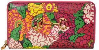 Gucci Ken Scott print Horsebit 1955 zip around wallet