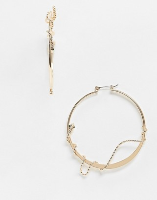 Aldo Jessielea woven snake hoop earrings in gold