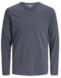 Jack and Jones Men's Long Sleeve Split Neck T-shirt