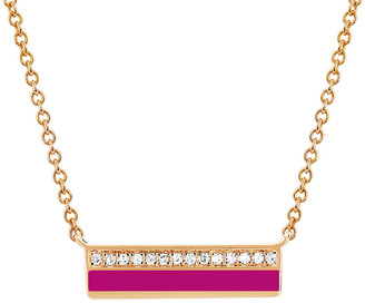 Ef Collection 14K Rose Gold 2.08 Ct. Tw. Diamond Bar Necklace