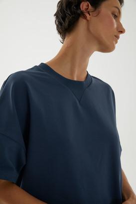 Cos Cotton-Mix Wide T-Shirt