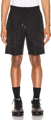 John Elliott Nylon Cargo Shorts in Black | FWRD