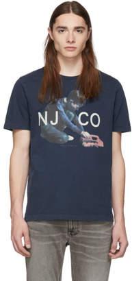 Nudie Jeans Navy Logo Boy Roy T-Shirt