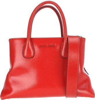 Miu Miu Logo Top Handle Tote Bag