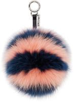 Fendi Pink Pompom Keychain