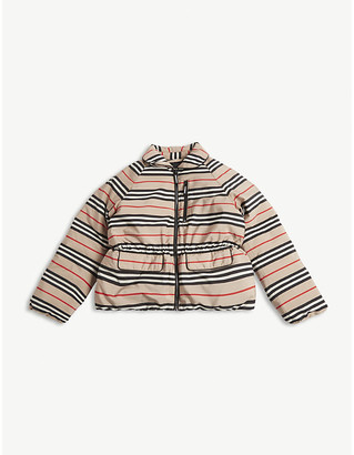 Burberry Mollie icon striped down jacket 3-14 years