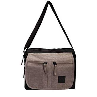 Artsac Womens Twin Sectioned Front Pocketed Bag Cross-Body Bag