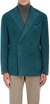 Boglioli MEN'S LIGHTWEIGHT CASHMERE DOUBLE-BREASTED SPORTCOAT-TURQUOISE SIZE 40 L