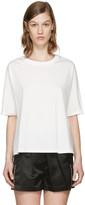 3.1 Phillip Lim White Silk Combo T-shirt