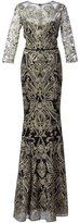 Marchesa embroidered gown - women - Nylon - 2