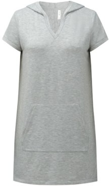 Ideology Cotton V-Neck Hooded Tunic, Created for Macy's