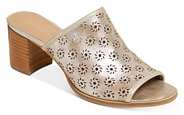 Jack Rogers Women's Ronnie Perforated Block Heel Mules