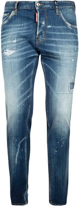 DSQUARED2 Distressed Stone Washed Jeans