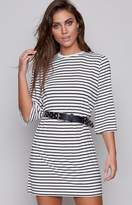 The Fifth Label The Fifth Shine By Dress Black White Stripe