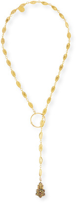 """Devon Leigh Long Lariat Pendant Necklace, 34"""""""