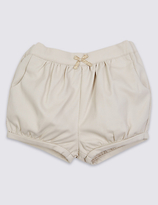 Marie Chantal Marie-chantal Girls Cotton Textured Shorts with Stretch (3 Months - 5 Years)