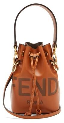 Fendi Mon Tresor Mini Leather Bucket Bag - Tan