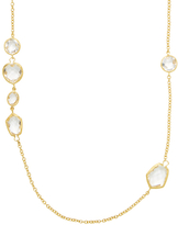 Rivka Friedman Alternating Deco Shape Rock Crystal Station Necklace