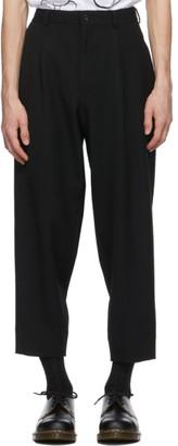 Comme des Garçons Homme Deux Black Wool Gabardine Trousers