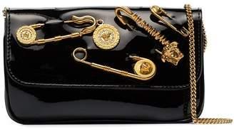 Versace safety pin evening bag