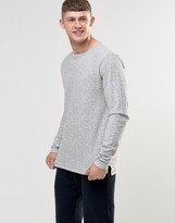 Bellfield Slub Jaquard Long Sleeve T-Shrit