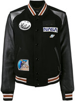 Coach Space varsity jacket - women - Leather/Nylon/Viscose/Wool - 2