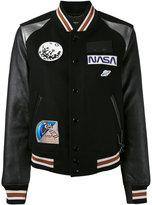 Coach Space varsity jacket - women - Leather/Nylon/Viscose/Wool - 4