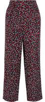 Vanessa Seward Acronyme Cropped Silk-Jacquard Wide-Leg Pants