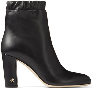 Jimmy Choo MARVA 85 Black Soft Nappa Leather Ankle Bootie