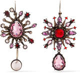 Alexander McQueen Gold-plated, Crystal And Faux Pearl Earrings - Pink