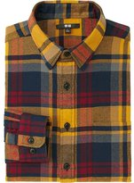 Uniqlo Men Flannel Checked Long Sleeve Shirt