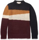 Marni Colour-block Mohair-blend Sweater