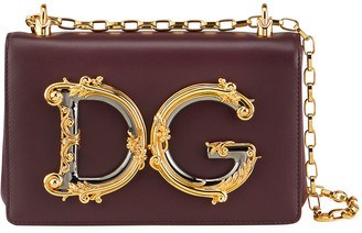 Dolce & Gabbana Baroque Small Leather Crossbody Bag