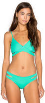 L-Space Chloe Wrap Bikini Top in Green. - size S (also in XS)
