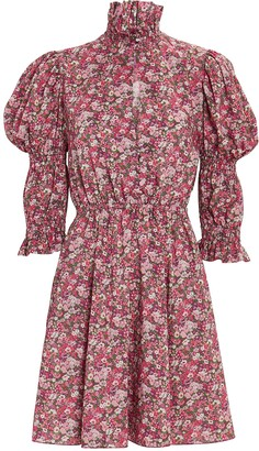 Philosophy di Lorenzo Serafini Floral Puff Sleeve Mini Dress