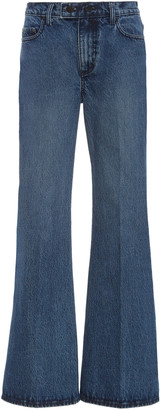 Nobody Denim Marina Rigid High-Rise Flare-Leg Jeans