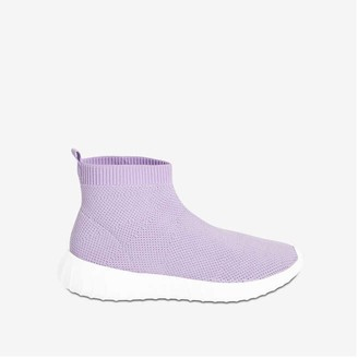 Joe Fresh Kid Girls' Sock Sneakers, Black (Size 5)