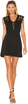 BCBGeneration Lace Inset Dress in Black. - size 0 (also in 2,4,6)