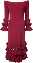 Jonathan Simkhai off shoulder ruffled dress