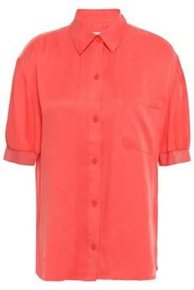 Equipment Abelia Pintucked Washed Silk-blend Shirt