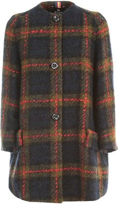 Paul Smith Short Checked Coat