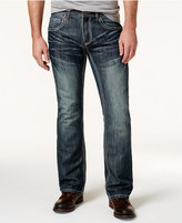 INC International Concepts Men's Boot-Cut Dark-Wash Faded Jeans, Only at Macy's