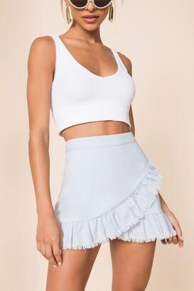 superdown Nola Ruffle Wrap Skirt