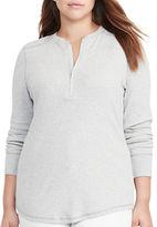 Lauren Ralph Lauren Plus Slim-Fit Cotton Half-Zip Shirt