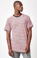 PacSun Vienne Striped Scallop T-Shirt