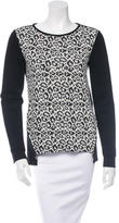 Tibi Leopard Jacquard Sweater
