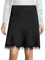 Elie Tahari Christina Lace Hem Skirt