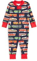 Hanna Andersson Print Organic Cotton Fitted One-Piece Pajamas (Baby Boys)