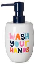 Pillowfort Wash Your Hands Soap Dispenser White & Navy