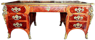 One Kings Lane Vintage Antique French Ferdinand Marcos Desk - House of Charm Antiques